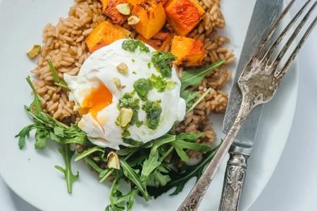 Healing Sweet Potato and Poached Egg Buddha Bowl