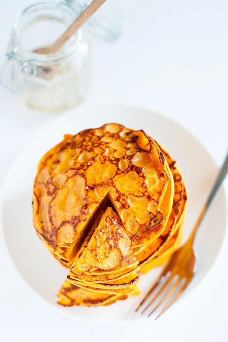 Sweet potato pancakes with 2 ingredients