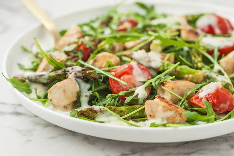 Warm Chicken Salad With Creamy Dill Dressing