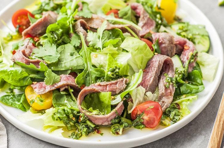 Simple Thai beef salad