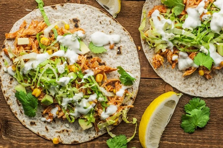 If you love the popular buffalo flavor, you will love these chicken tacos!