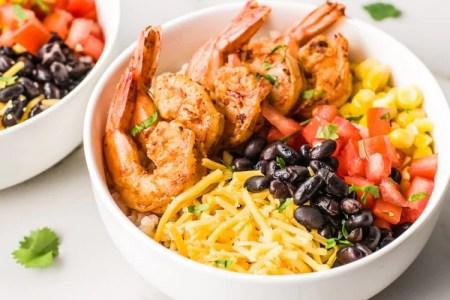 Easy Meal Prep Ideas: Shrimp Taco Bowls