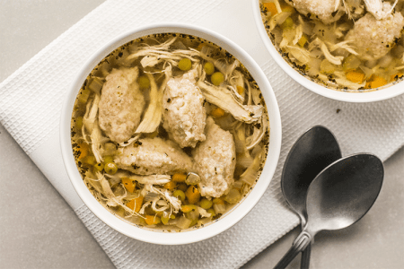 Healthy Slow Cooker Chicken and Dumplings