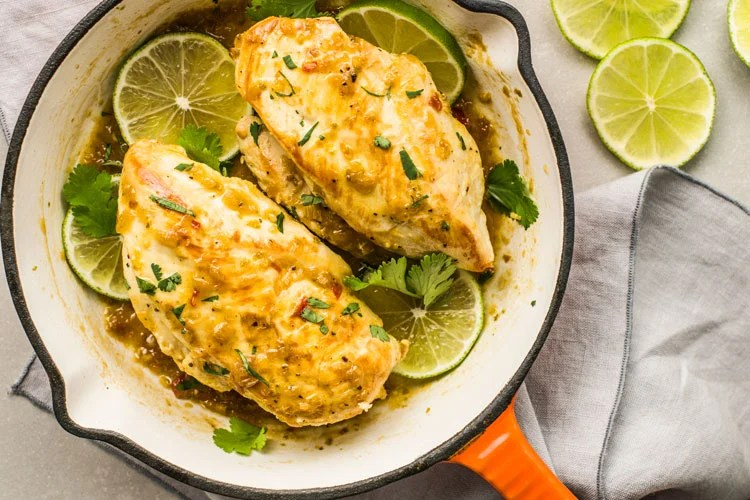 You'll love the tangy and zesty flavors that come with this easy, single-skillet Cilantro Lime Chicken dish