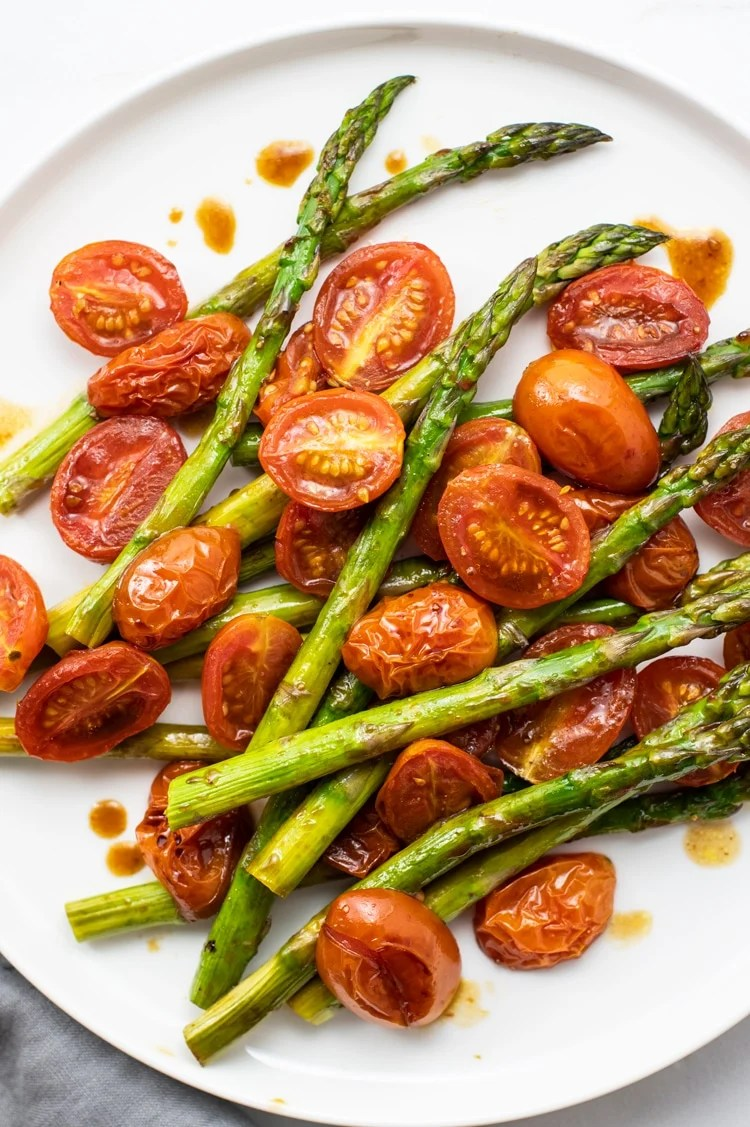 Balsamic Asparagus and Blistered Tomatoes
