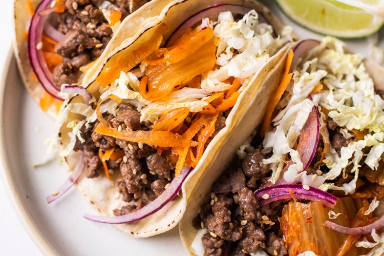 Turn up the heat with these deliciously flavorful Korean tacos!