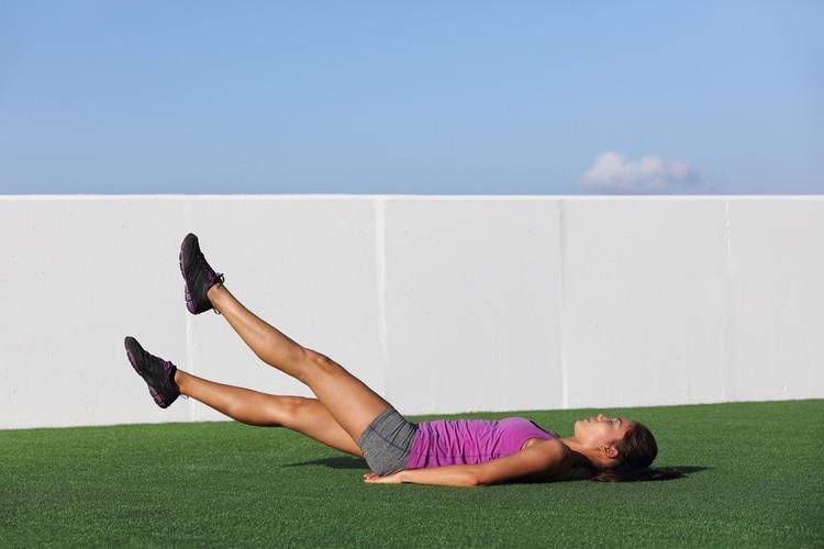 Flutter Kicks are perfect for shredding your lower ab exercises. Push through!