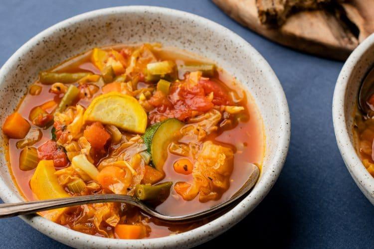 Cabbage Garlic Veggie Soup