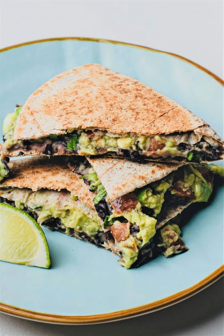 Nutritious and tasty, these quesadillas will be popular with vegans and meat eaters alike!