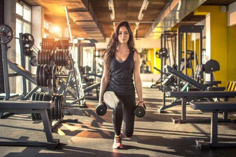 Refine your muscles with this simple dumbbell routine - Walking Lunges