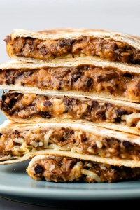 These delicious black bean quesadillas are full of the southwestern flavor you will love!