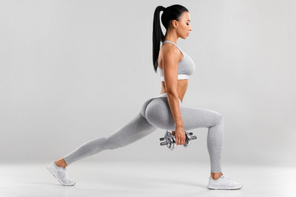 One of the best butt exercises to sculpt firmer booty is with lunges!