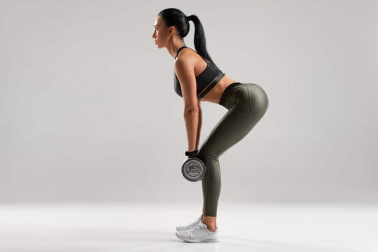 Dumbbell deadlifts are great bum exercises!
