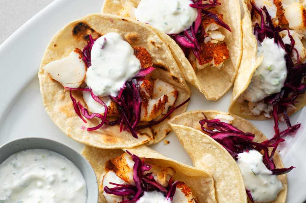 Try these delicious air-fried fish tacos without feeling guilty. Plus, they're super easy to make!
