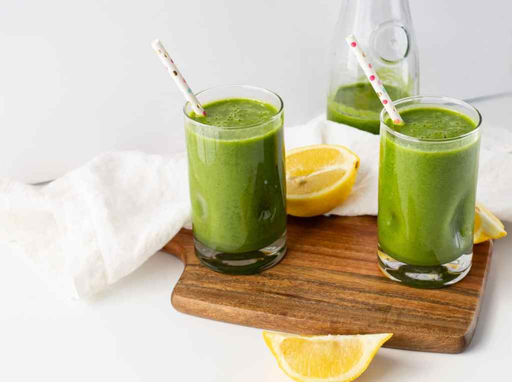 A creamy green protein smoothie so good even the kids will want it!