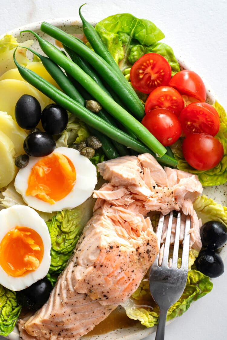 Our salad nicoise with salmon will impress your dinner guests.