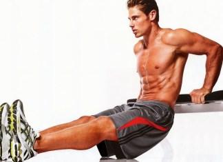 Marc Megna doing triceps workout