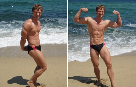 Christopher Maslon posing on the beach
