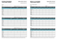 Fitness progress downloadable sheets