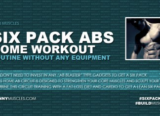 Six pack abs: home workout routine without any equipment