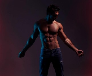 Omar El Sheikh abs, pecks and biceps