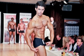 Florian Bornschier posing at competition