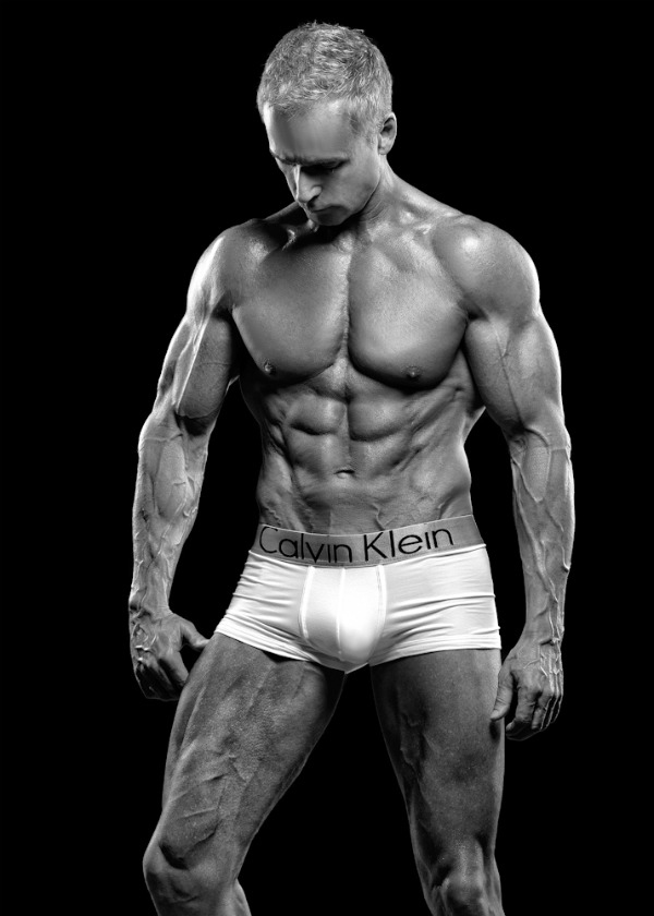 Cover model physique Philip J Hoffman  Skinny Muscles
