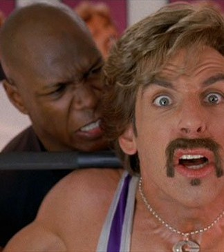 Dodgeball - White Goodman (Ben Stiller) lifting