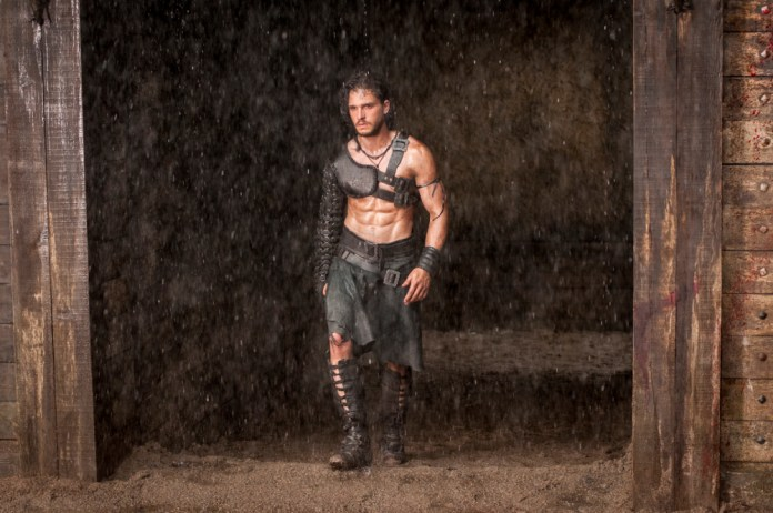 Kit Harington as Milo entering the gladiator's arena