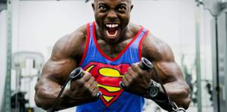 angry bodybuilder biceps abs