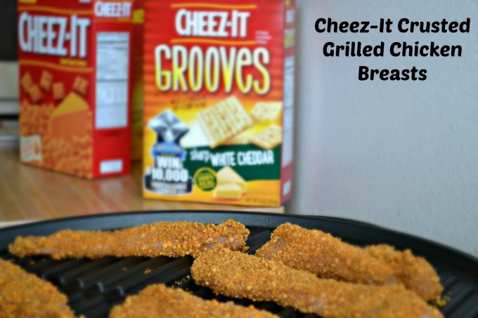Grilin chicken with Cheez-It