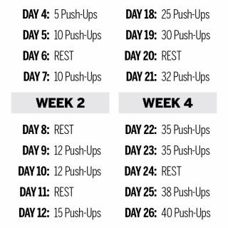 50 Pushups Challenge