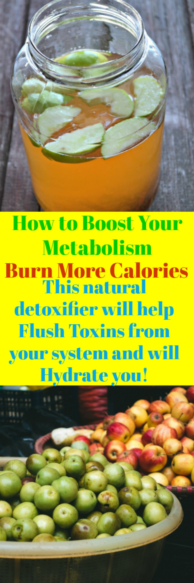 Apple Cinnamon Metabolism Detox Water to jump start your system into weight loss mode.  Speed up your metabolism and burn more calories which in turn make you feel amazingly remarkable. There is no magic pill for weight loss, just hard work and putting the right foods into your system like this drink!