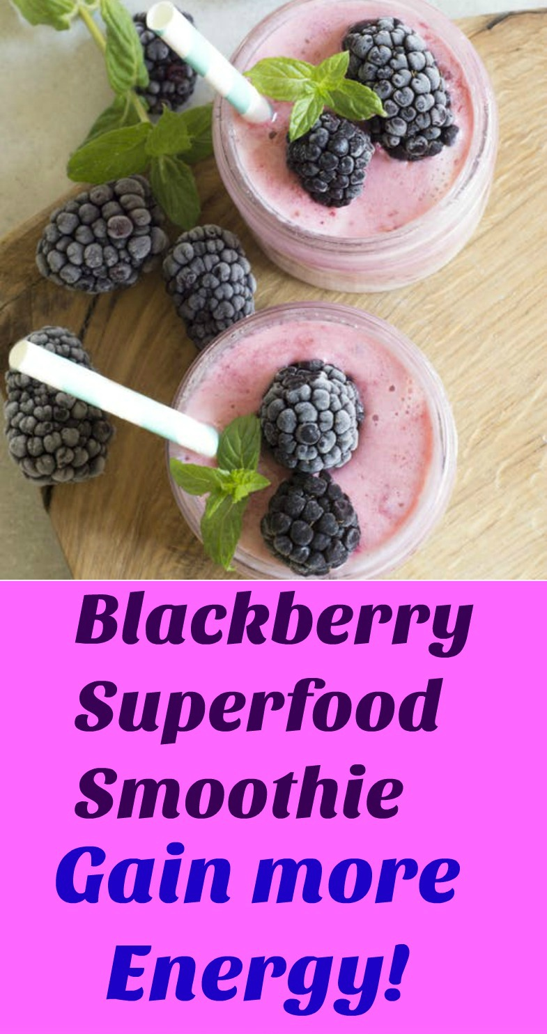This Blackberry Superfood Smoothie recipe will have you gain more energy and feel revitalized when you drink this smoothie for breakfast, lunch or after a strenuous workout. 😋