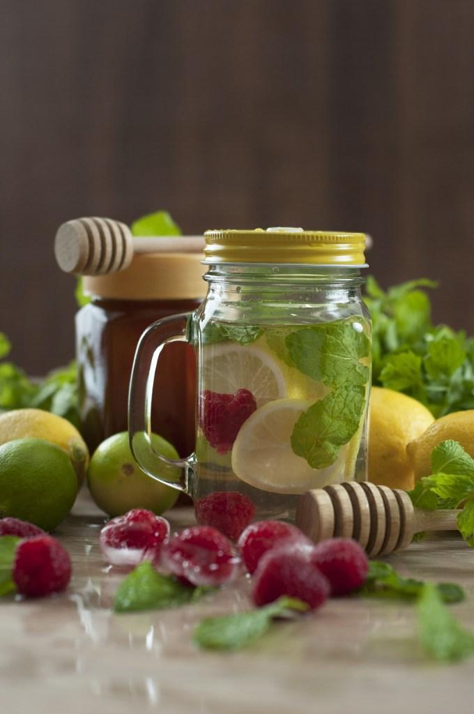 Raspberry Lemon Detox Water