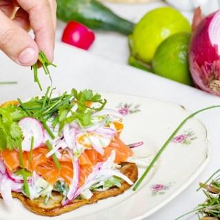 High Protein Smoked Salmon Breakfast Toast