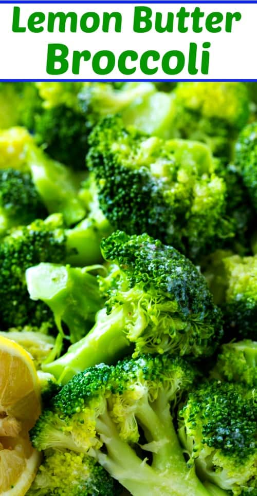 Lemon Butter Broccoli makes a quick and easy healthy side #paleo #lowcarb #healthy