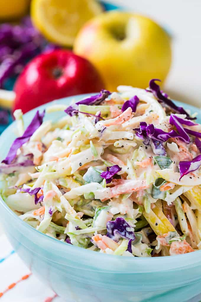 Healthy Apple Coleslaw