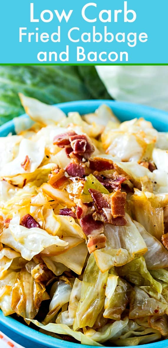 Low Carb Fried Cabbage and Bacon #easyrecipe #lowcarb #cabbage #sidedish