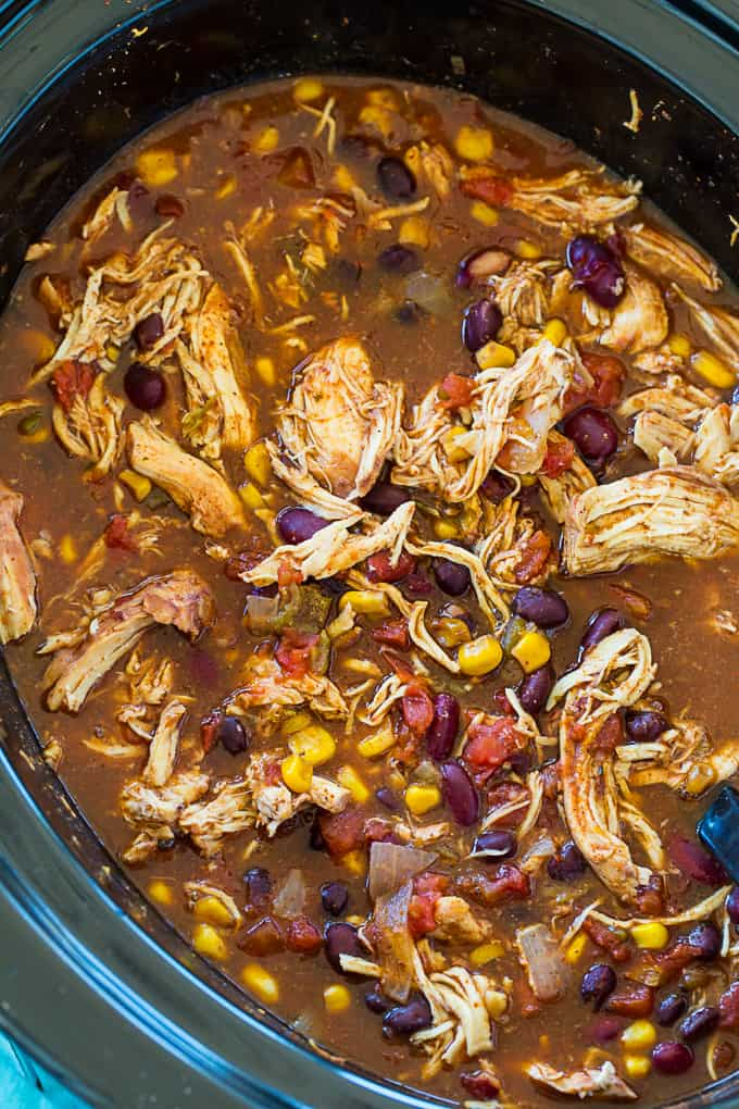 Healthy Crock Pot Chicken Chili