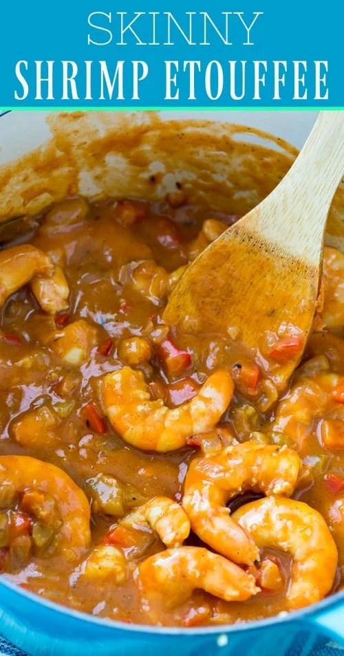 Skinny Shrimp Etouffee #healthy #shrimp #mardigras
