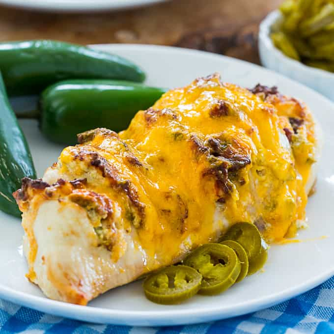 Air Fryer Jalapeno Popper Hasselback Chicken (low carb)