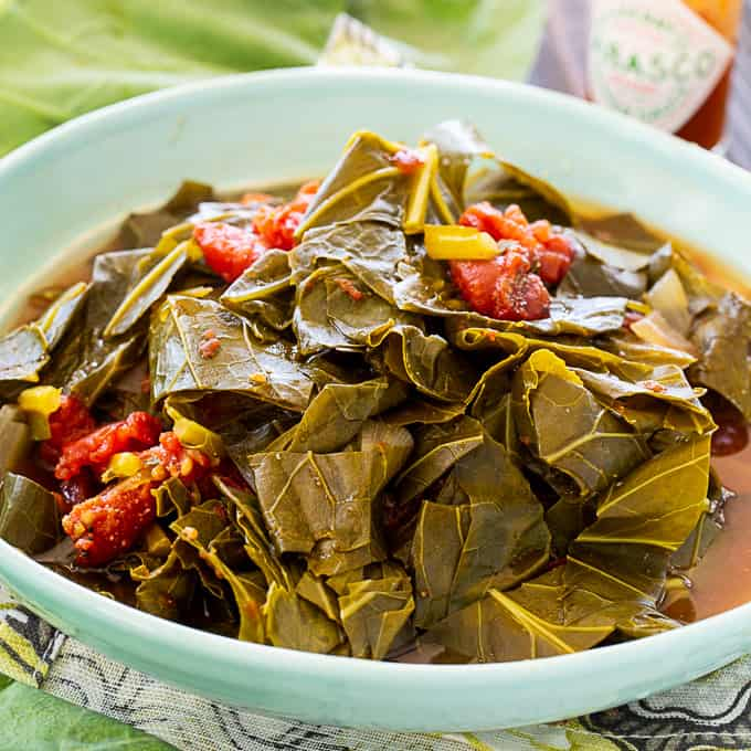 Collard Greens with Tomatoes