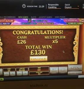£130 win
