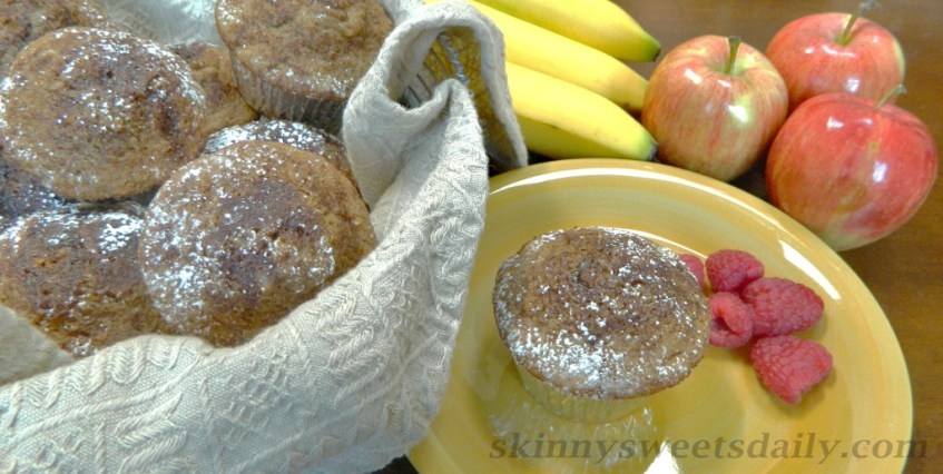 Healthy and Moist Spiced Apple Muffins