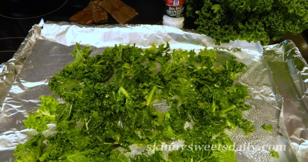 Dark Chocolate Drizzled Kale Chips 2