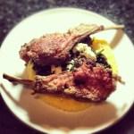 Lamb Spinach Feta Polenta