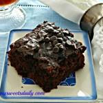 Double Chocolate Zucchini Brownies