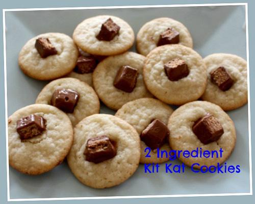Easiest 2 Ingredient Kit Kat Cookies