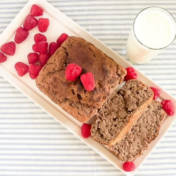 Pan Roasted Raspberries Bread